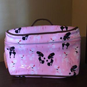 FLUFF Pink Poodle Makeup Train Case